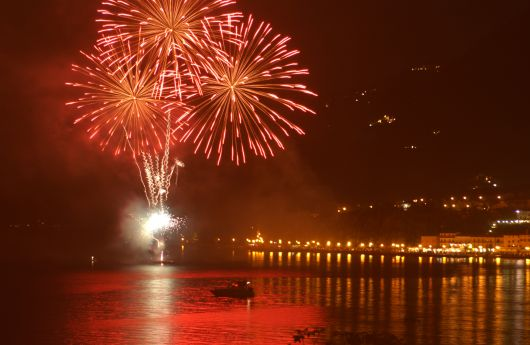 Firework at Lake Garda
