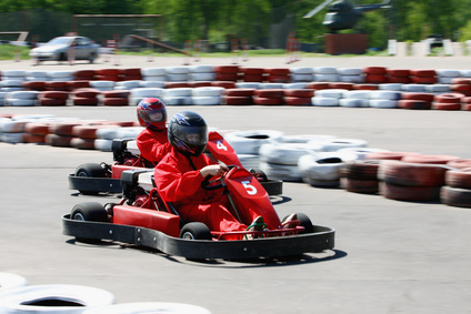 Karting at lake garda