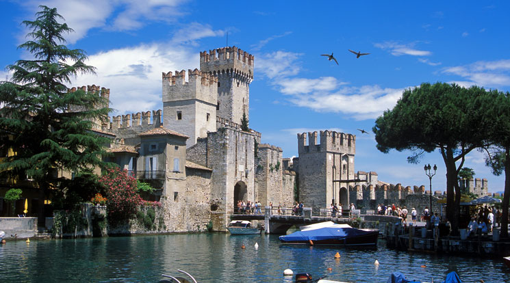 Sirmione Is Located On A Promontory In Lake Garda
